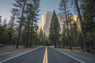 USA, California, Yosemite National Park, road and El Capitan - KKAF03033