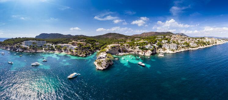 Spain, Balearic Islands, Mallorca, Region Calvia, Costa de la Calma, Peguera, Cala Fornells, coast and nature harbour - AMF06346