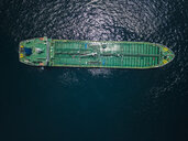 Indonesia, Bali, Aerial view of oil tanker - KNTF02449