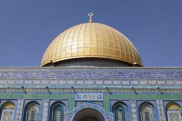 Israel, Jerusalem, Dome of the rock, golden cupola - PSTF00274