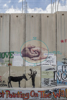 Palestine, West Bank, Bethlehem, Border, Border wall, graffiti - PST00280