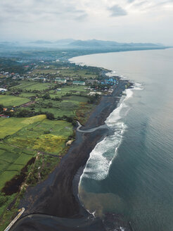 Indonesia, Bali, Aerial view of Keramas beach - KNTF02474