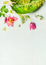 Close-up of fresh pink flowers over a white background - INGF08809