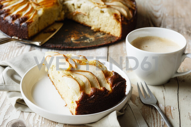 Home-baked glutenfree pear pie made of buckwheat flour - EVGF03398