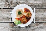 High angle view of food on a table - INGF09382
