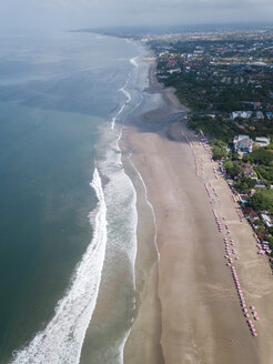 Indonesia, Bali, Semenyak, Aerial view of Double-six beach - KNTF02495