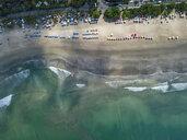 Bali, Kuta Beach, view to ocean and  beach, aerial view - KNTF02513