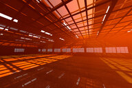 Architecture visualization of an empty warehouse, 3D Rendering - SPCF00294