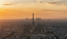 Aerial view of architectural buildings in the city during sunset - INGF10187