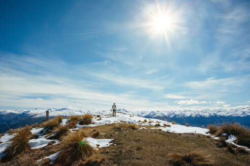 Scenic view of  snow capped mountains on a sunny day during winter in Australia - INGF10281