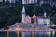 Montenegro, Adriatic Coast, Dobrota, Matthias Church in the evening - SIEF08189