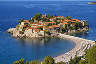 Montenegro, Adriatic Coast, Hotel Island Sveti Stefan and beach, near Budva - SIEF08204