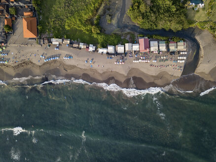 Indonesia, Bali, Canggu, Aerial view of Batu bolong beach - KNTF02524
