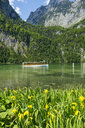 Germany, Bavaria, Upper Bavaria, Berchtesgaden Alps, Berchtesgaden National Park, Lake Koenigssee, excursion boat - RUNF00410
