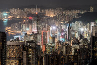 Hong Kong, Causeway Bay, cityscape at night - DAWF00782
