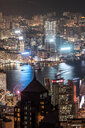 Hong Kong, Causeway Bay, cityscape at night - DAWF00785