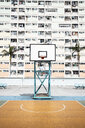 Hong Kong, Choi Hung, basketball ground in front of an apartment block - DAWF00788