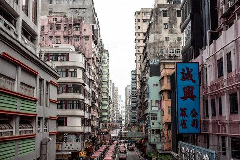 Hong Kong, Mong Kok, Goldfish Street, street canyon - DAW00797