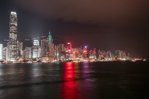 Hong Kong, Tsim Sha Tsui, cityscape at night - DAWF00800