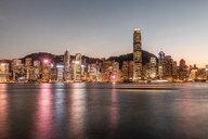Hong Kong, Tsim Sha Tsui, cityscape at dusk - DAWF00818
