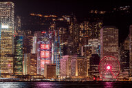 Hong Kong, Tsim Sha Tsui, cityscape at night - DAWF00821