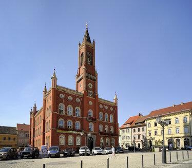 Germany, Saxony, Kamenz, Market Square, Townhall - BTF00512