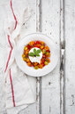 Plate of tomato salad with Burrata - LVF07598