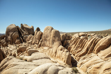 USA, California, Los Angeles, rock formation at Joshua Tree National Park - DAWF00858