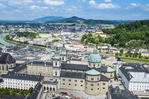 Austraia, Salzburg State, Salzburg, Salzburg Cathedral and city view - RUNF00412