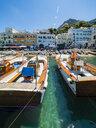 Italy, Campania, Capri, Marina Grande and boats - AMF06455
