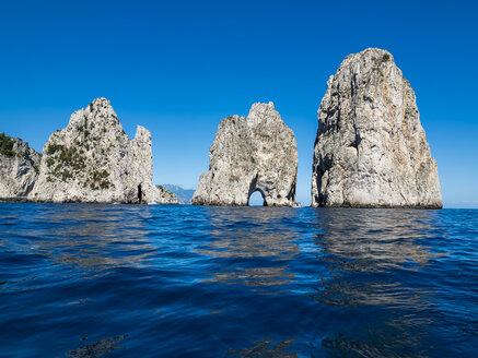 Italy, Capri, Gulf of Naples, Punta di Tragara, Faraglioni - AMF06471