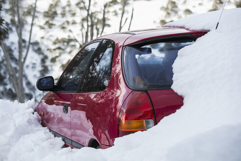 Snow covering parked car - FSIF03686