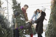 Family shopping for Christmas tree - HEROF00992