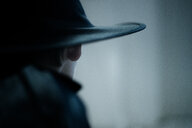 Close up shot of a black hat - INGF10592
