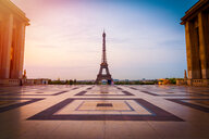 Architectural shot of the Eiffel Tower in Paris - INGF10706