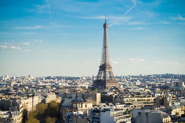 Architectural shot of the Eiffel Tower in Paris during the day - INGF10769