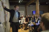 Audience watching speaker lead presentation - HEROF01232