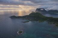 Coastal mountains, Offeroykammen, Vestvagoya, Lofoten Islands, Norway - AURF07932