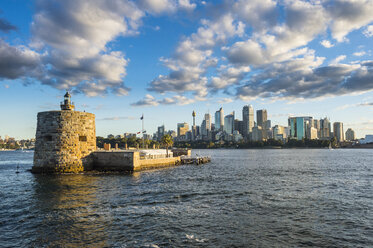 Australia, New South Wales, Sydney, Sydney Harbour, Lighthouse Central Business District in the background - RUNF00522