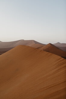 Namibia, Namib desert, Namib-Naukluft National Park, Sossusvlei, sunset at Dune 45 - LHPF00237
