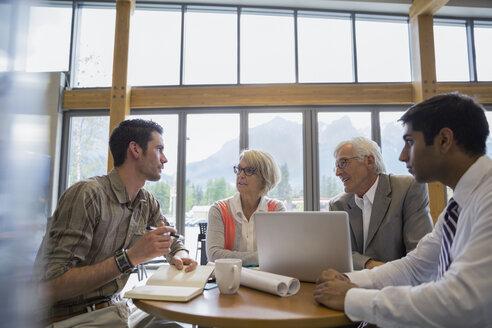 Business people talking in meeting - HEROF02246