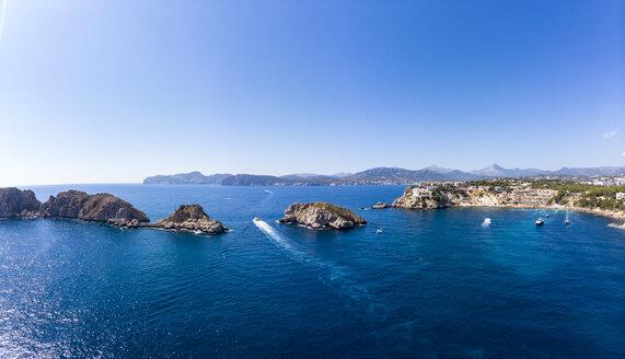 Spain, Baleares, Mallorca, Region Calvia, Aerial view of Islas Malgrats and Santa Ponca - AMF06520