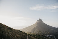 South Africa, Cape Town, sunset at Kloof Nek with view to Lion's Head - LHPF00287