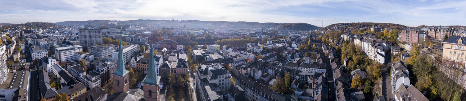 Germany, Wuppertal, Elberfeld, Aerial view of Laurentius Square - SKAF00101