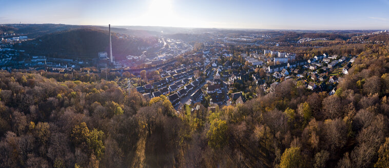 Germany, Wuppertal, Aerial view of Elberfeld in autumn - SKAF00104