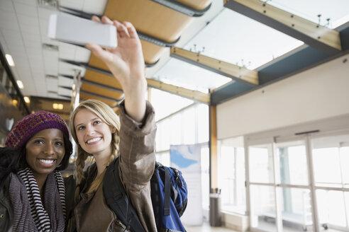 Women taking selfie in airport - HEROF03072