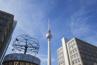 Germany, Berlin, Alexanderplatz, TV Tower and World Clock - GW05723