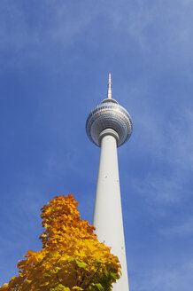 Germany, Berlin, television tower in autumn - GWF05726