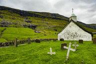Denmark, Faroe islands, Streymoy, Saksun, Old church - RUN00558