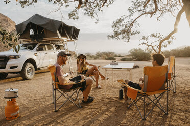 Namibia, friends camping near Spitzkoppe - LHPF00358